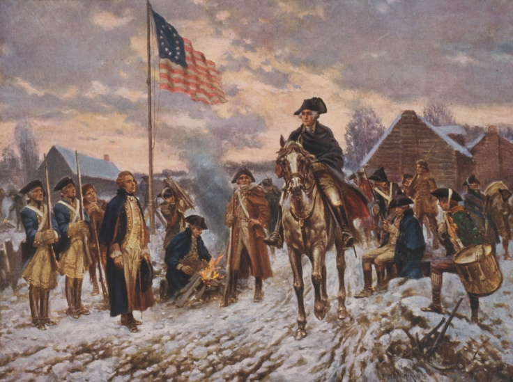 Image of Washington at Valley Forge