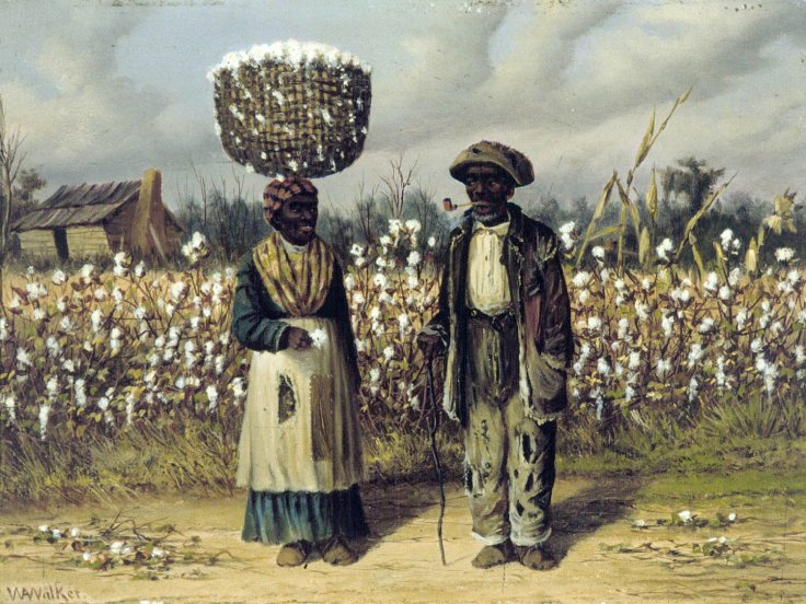 cotton_pickers_oil_painting_on_panel_by_william_aiken_walker