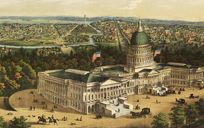 panoramic-view-of-washington-city-e-sachse-and-co-1856