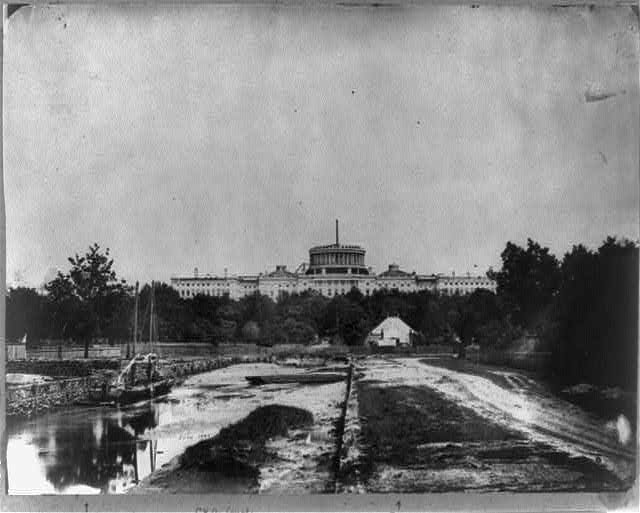 1860photo_uscapitol_washingtoncanalvisiblie